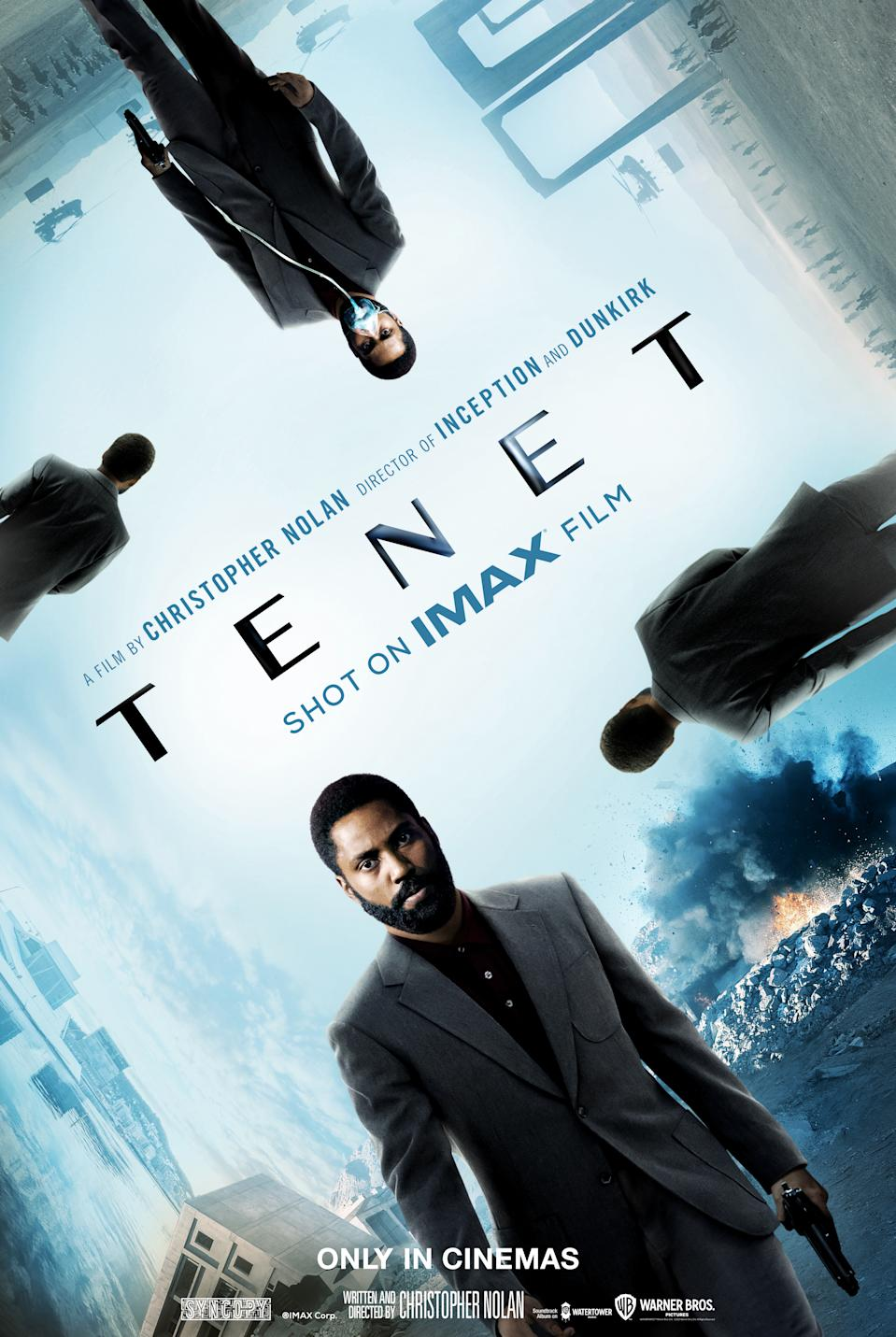 The IMAX poster for Tenet. (Warner Bros.)