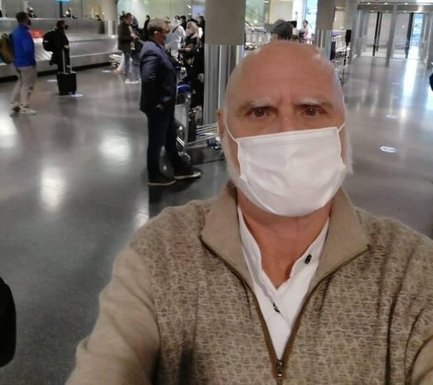 André Gauthier arrived back in Toronto onMay 5. He is now in mandatory quarantine.