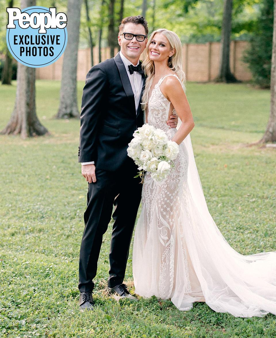 """<p>The radio host, <em>Breaking Bobby Bones</em> star and <em>American Idol</em> mentor and his fiancée were married Saturday, July 17 at their Nashville-area home.</p> <p>""""We love home. We picked this place out together — that was really one of the first decisions that we made as a couple. And so she thought, 'What if we got married here?'"""" Bones, 41, tells PEOPLE.</p> <p>Adds Parker, 29, """"It was such a big gesture for Bobby to want to get a home for us both, that had some of my touches. We got to start fresh. For me, it really wasn't even a question. It was just — if we're getting married in Nashville, we're getting married at the house.""""</p>"""