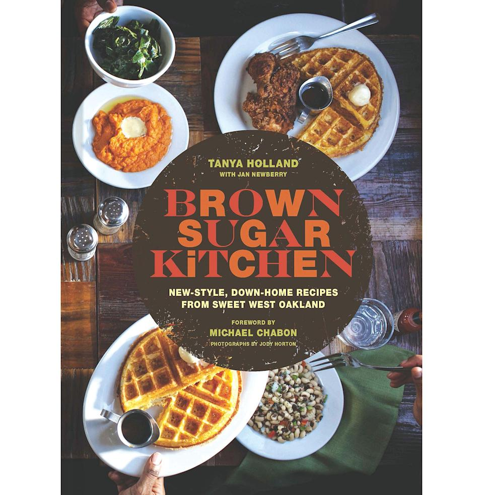 """<p><strong>By Tanya Holland</strong></p><p>bookshop.org</p><p><strong>$26.96</strong></p><p><a href=""""https://bookshop.org/books/brown-sugar-kitchen-new-style-down-home-recipes-from-sweet-west-oakland-soul-food-cookbook-southern-style-cookbook-recipe-book/9781452122342"""" rel=""""nofollow noopener"""" target=""""_blank"""" data-ylk=""""slk:Buy"""" class=""""link rapid-noclick-resp"""">Buy</a></p><p>Although it moved into a new location early in 2019, Holland's soul-food sanctuary remains a vibrant community hub in Oakland, California, as famous for its hospitality as its shrimp & grits. Holland's book conveys the energy of a place so special that restaurant critic Jonathan Gold was known to drive all the way there from Los Angeles on a morning whim. """"The best waffles commercially available, I am prepared to state, come from Brown Sugar Kitchen,"""" he wrote in 2017. """"The waffles, Tanya Holland's cornmeal-enhanced riff on Marion Cunningham's famous yeasted waffles, are crisp, light and so violently leavened that they threaten to leap from the waffle iron in which they are cooked. If you drive up from Los Angeles about 6 a.m., you can be at Brown Sugar Kitchen by noon."""" Until then, you've got this book. <em>—J.G.</em> </p>"""