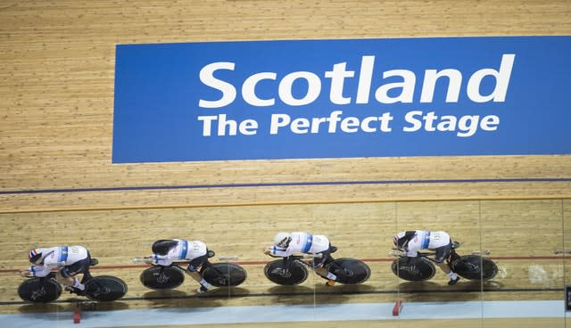 Great Britain's women's pursuit team were in fine form in Glasgow (Ian Rutherford/PA)