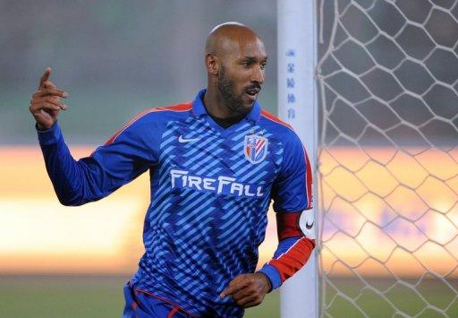 Shanghai Shenhua's Nicolas Anelka, seen here on March 16, could leave the team following disagreements regarding who will be named as the club's new coach, according to reports on May 22