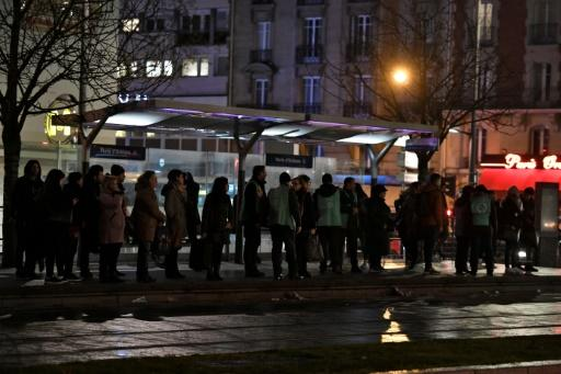 Six of the 16 Paris metro lines were shut completely on Thursday and suburban rail lines remained severely disrupted