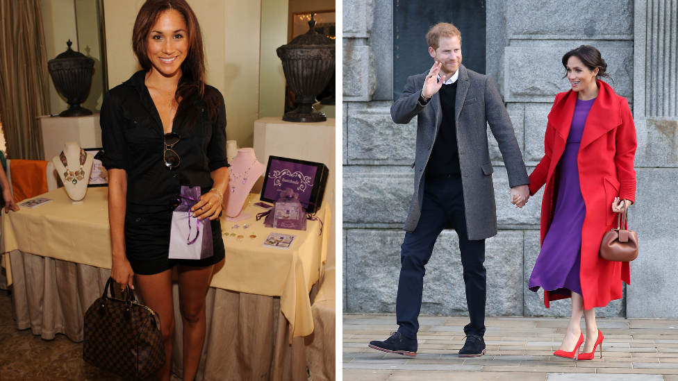 <p>Out of the entirety of the royal family the newest member, Meghan Markle, has arguably gone through the biggest change.The Duchess of Sussex has quite a whirlwind 10 years – she's gone from struggling actress, to appear on the very successful show <em>Suits</em>, has gotten married and divorced, married again but this time to a prince and is now pregnant. Photo: Getty </p>