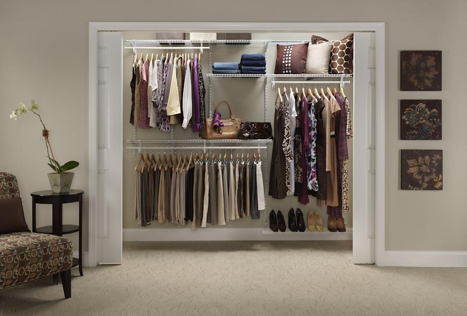 Closet organizer kit and better closet storage from Canadian Tire