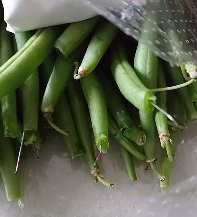 Shocking sight: Margaret found 12 needles in her green beans (Mercury)