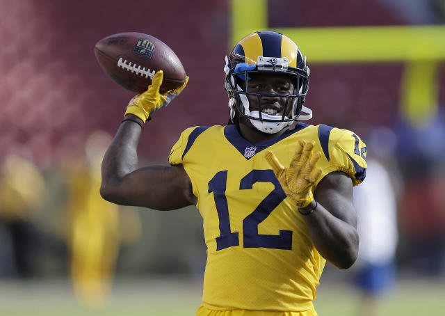 "<a class=""link rapid-noclick-resp"" href=""/nfl/players/27532/"" data-ylk=""slk:Sammy Watkins"">Sammy Watkins</a> could be solid gold in Week 9 (AP Photo/Ben Margot)"