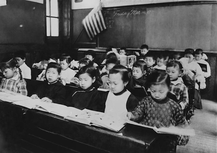 A classroom composed of Chinese children in New York, 1900 | Keystone-France/Gamma-Keystone/Getty Images