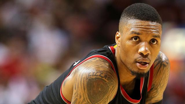 "Taking his talents to the studio, <a class=""link rapid-noclick-resp"" href=""/nba/players/5012/"" data-ylk=""slk:Damian Lillard"">Damian Lillard</a>'s sophomore studio album ""Confirmed"" is charting."