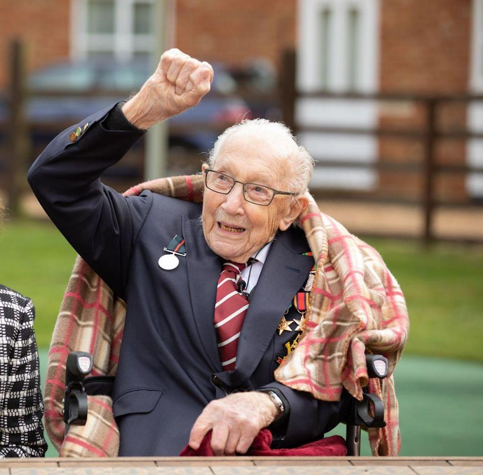 "<p>Captain Tom Moore, the centenarian who went viral for his zimmer-frame aided fundraising efforts for the NHS, is to receive a knighthood.</p><p>'I am certainly delighted and overawed by the fact this has happened to me,"" he said, reported the <a href=""https://www.bbc.co.uk/news/uk-england-beds-bucks-herts-52735192"" rel=""nofollow noopener"" target=""_blank"" data-ylk=""slk:BBC"" class=""link rapid-noclick-resp"">BBC</a>. 'I thought this can't be true, I've always said this won't happen and it appears it actually has. I certainly never anticipated that this letter would arrive for me.'</p><p>Moore became a beacon of positivity and a prominent person in the UK throughout the year due to his selflessness, fundraising efforts and the remarkable achievements he made despite his age.</p><p>Sadly, Moore passed away in January 2021 following illnesses with pneumonia and Coronavirus. His death was marked by a congratulatory clap across the UK.</p>"