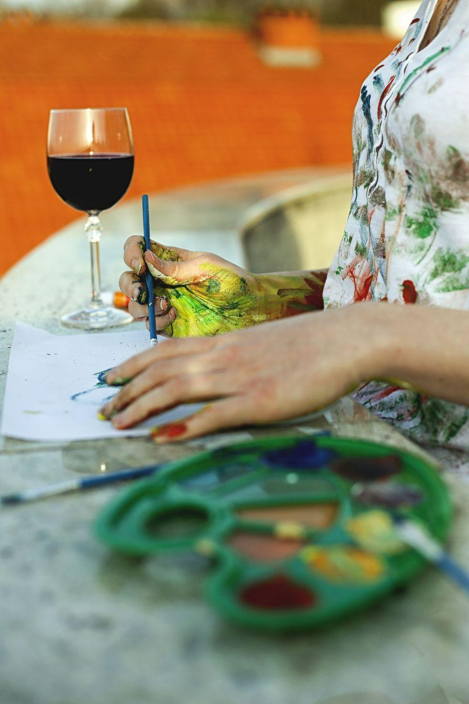 "<p>Use this milestone moment to inspire creativity in your life. To channel it, sign up for a traditional art class, pottery class, or wine and paint night with your friends. Whichever you choose, you're sure to have a great time.</p><p><a class=""link rapid-noclick-resp"" href=""https://go.redirectingat.com?id=74968X1596630&url=https%3A%2F%2Fwww.walmart.com%2Fip%2FU-S-Art-Supply-75ml-Acrylic-12-Color-Paint-Extra-Large-Tube-Artist-Painting-Set%2F853233139&sref=https%3A%2F%2Fwww.thepioneerwoman.com%2Fhome-lifestyle%2Fentertaining%2Fg34192298%2F50th-birthday-party-ideas%2F"" rel=""nofollow noopener"" target=""_blank"" data-ylk=""slk:SHOP PAINTING SETS"">SHOP PAINTING SETS</a></p>"