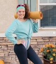 """<p>Step into the '80s by layering leggings, a colorful leotard, and a cropped sweatshirt. Don't forget the leg warmers, elastic headband, and your exercise mat. </p><p><a class=""""link rapid-noclick-resp"""" href=""""https://www.instagram.com/p/B4T1fP2FwXt/"""" rel=""""nofollow noopener"""" target=""""_blank"""" data-ylk=""""slk:SEE MORE"""">SEE MORE</a></p><p><a class=""""link rapid-noclick-resp"""" href=""""https://www.amazon.com/FAYBOX-Warmers-Knitted-Crochet-Costume/dp/B07YDGSC68?tag=syn-yahoo-20&ascsubtag=%5Bartid%7C10072.g.33547559%5Bsrc%7Cyahoo-us"""" rel=""""nofollow noopener"""" target=""""_blank"""" data-ylk=""""slk:SHOP LEG WARMERS"""">SHOP LEG WARMERS</a></p>"""