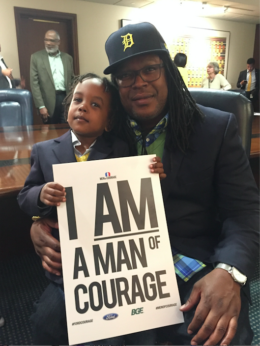 """He's very conscious that he's a black boy growing up in America."" (Courtesy of Shaka Senghor)"