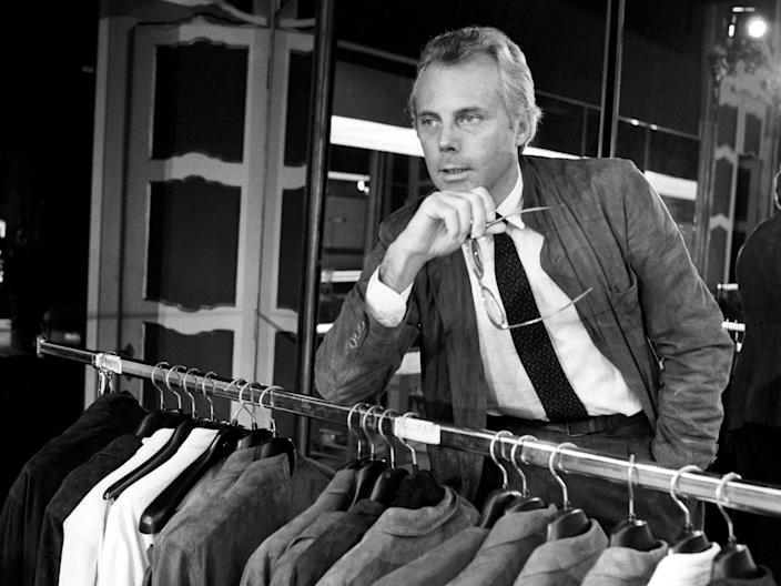 "Giorgio Armani in the 1970s. <p class=""copyright"">Getty Images</p>"