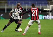 Paul Pogba in action against AC Milan