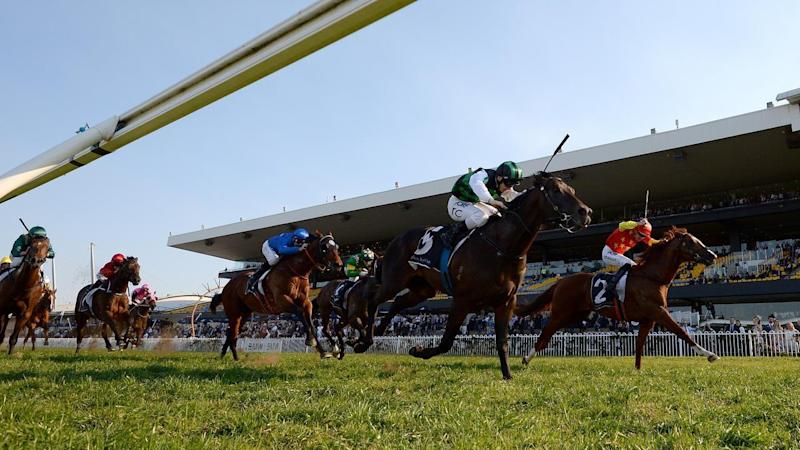 Trainer Bjorn Baker believes Addictive Nature (green) has things in his favour in the Apollo Stakes.