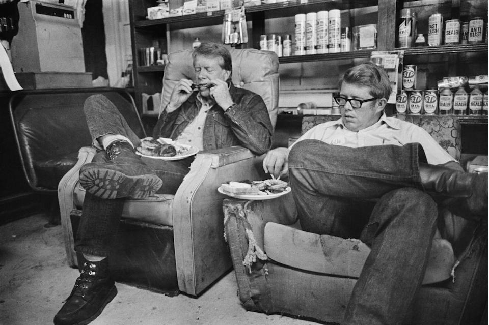 <p>Jimmy Carter with his brother, Billy, in 1976.</p>