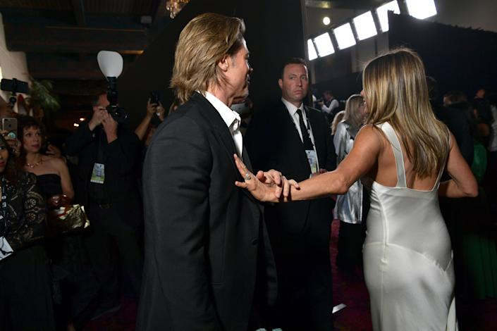 Brad Pitt and Jennifer Aniston attend the 26th Annual Screen Actors Guild Awards on Sunday at the Shrine Auditorium in Los Angeles. (Photo: Emma McIntyre via Getty Images for Turner)