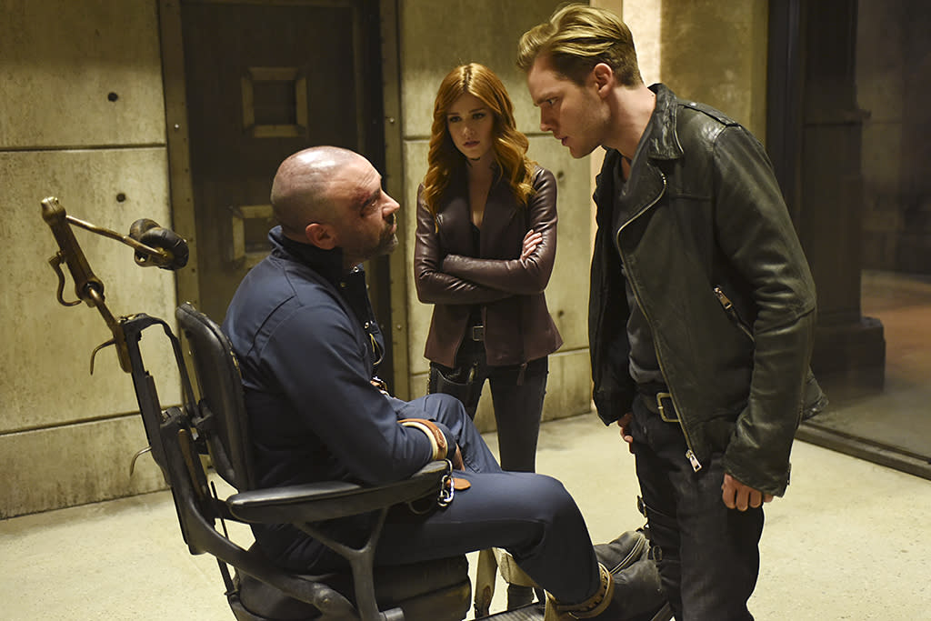 "<p><strong>This Season's Theme:</strong> ""It's the ongoing exploration of identity with all of our characters,"" says executive producer Darren Swimmer.<br /><br /><strong>Where We Left Off:</strong> Valentine (Alan van Sprang) dropped the bombshell that Jace (Dominic Sherwood) isn't Clary's (Katherine McNamara) brother after all. Simon (Alberto Rosende) walked in the sun, Magnus and Alec (Harry Shum Jr., Matthew Daddario) said the ""L"" word, and an unknown figure made off with the Soul Sword.<br /><br /><strong>Coming Up:</strong> ""We pick up right in the aftermath of that,"" says Swimmer. ""There's a lot of tumult in the Downworld."" With Simon able to walk outside, it allows him to ""theoretically have a normal life again,"" although Swimmer warns he'll ""soon find out being a vampire isn't something you can usually let go of."" And just because Valentine's in custody, ""it doesn't stop him from creating mischief and mayhem,"" the EP adds. As for that mysterious person who had the Soul Sword in the final 2A scene, Swimmer tells us, ""Those questions are addressed early on in the season.""<br /><br /><strong>New Kid in Town:</strong> Will Tudor makes his debut as new Shadowhunter Sebastian Verlac in the 2B premiere. ""The character has a lot of sides to him,"" Swimmer says. ""His place evolves as we get deeper into the season in a really juicy way."" The EP also teased the arrival of the Seelie Queen, and confirmed that there's ""a lot of relationship action"" coming up. <em>— Victoria Leigh Miller</em><br /><br />(Photo: John Medland/Freeform) </p>"