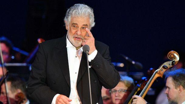 PHOTO: Spanish tenor Placido Domingo gestures as he performs during his concert in Szeged, southern Hungary, on Aug. 28, 2019. (Attila Seren/AFP/Getty Images, FILE)