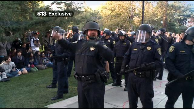 Does California cop who pepper-sprayed Occupy protesters deserve compensation for stress?