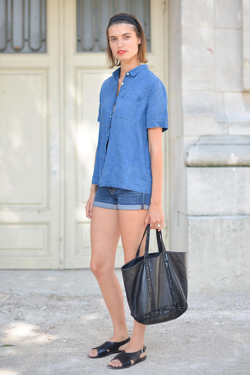 <p>Even casual sandals and jean shorts can feel elevated with the right accessories.</p>