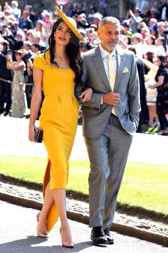 The Clooneys at Meghan and Harry's wedding on May 19.