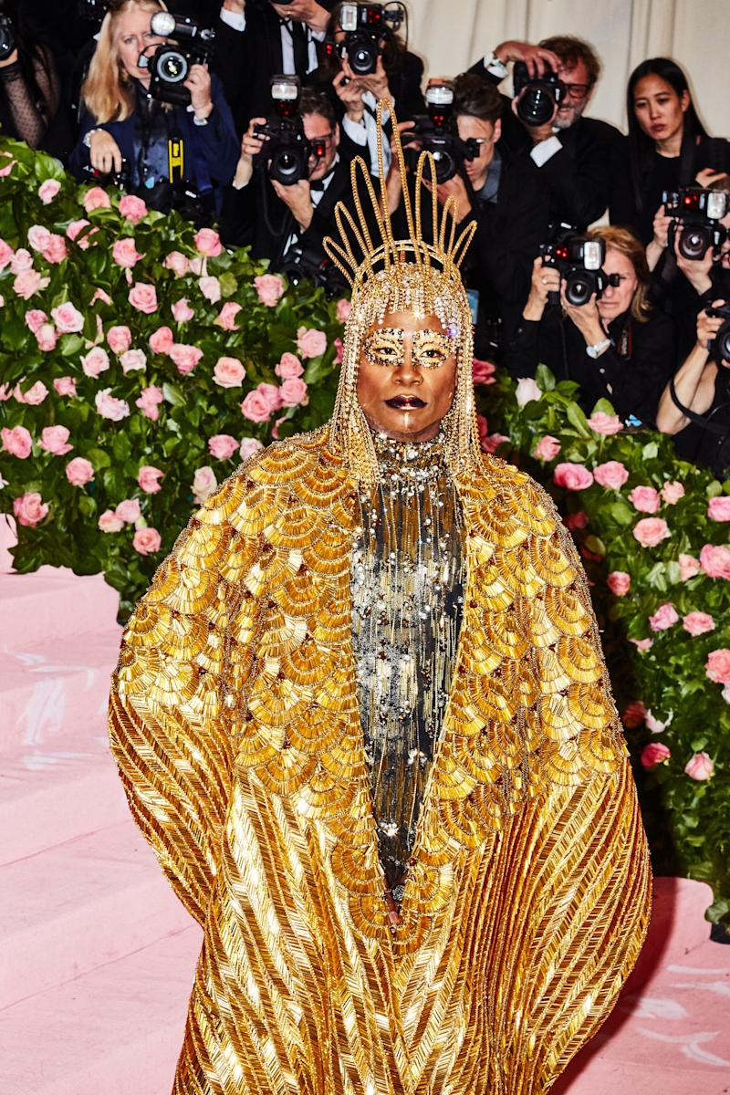 Billy Porter on the red carpet at the Met Gala in New York City on Monday, May 6th, 2019. Photograph by Amy Lombard for W Magazine.