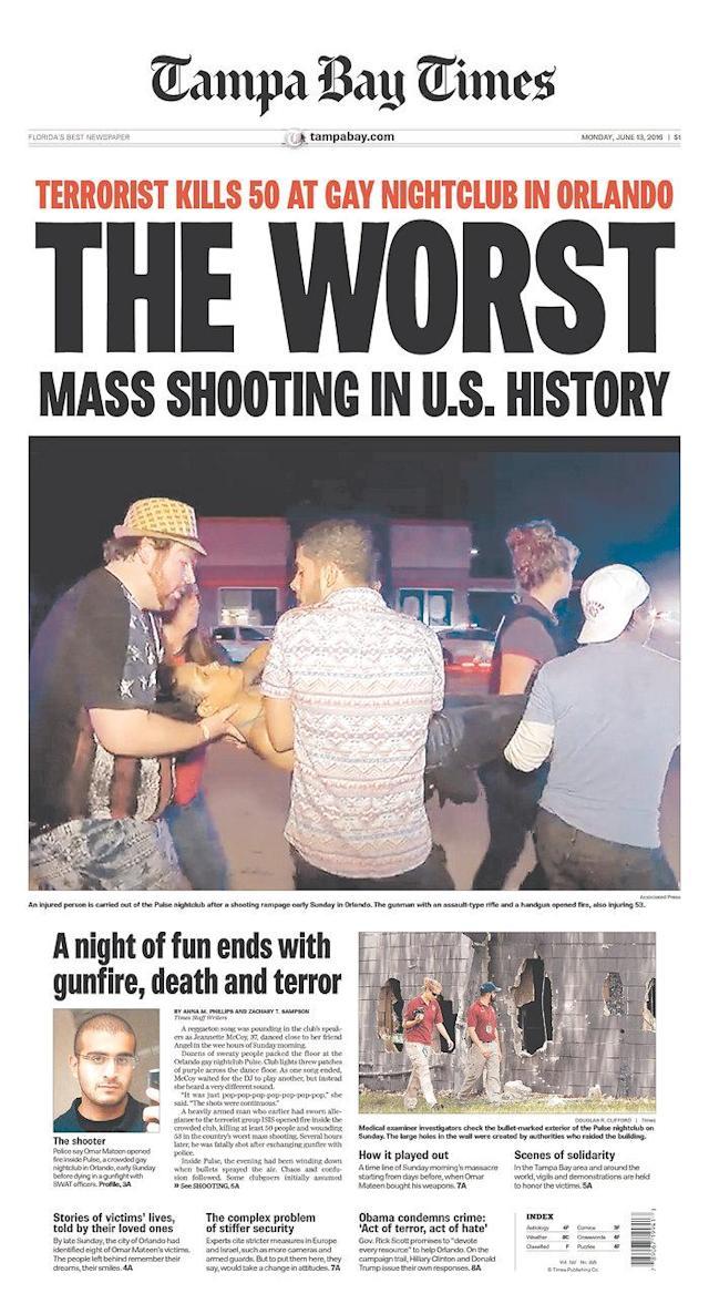 Front-page coverage of the Orlando mass shooting