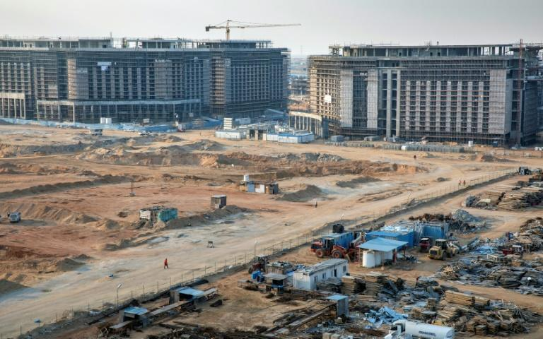 Construction of ministerial buildings at the governmental district in the new administrative capital, some 50 kilometres east of the capital Cairo