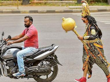 Bengaluru Traffic Police deploys 'Yamaraja' on streets to warn people about violations, spread road safety awareness