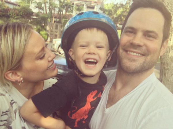 Hilary and Mike have remained on good terms for the sake of their son. Source: Instagram