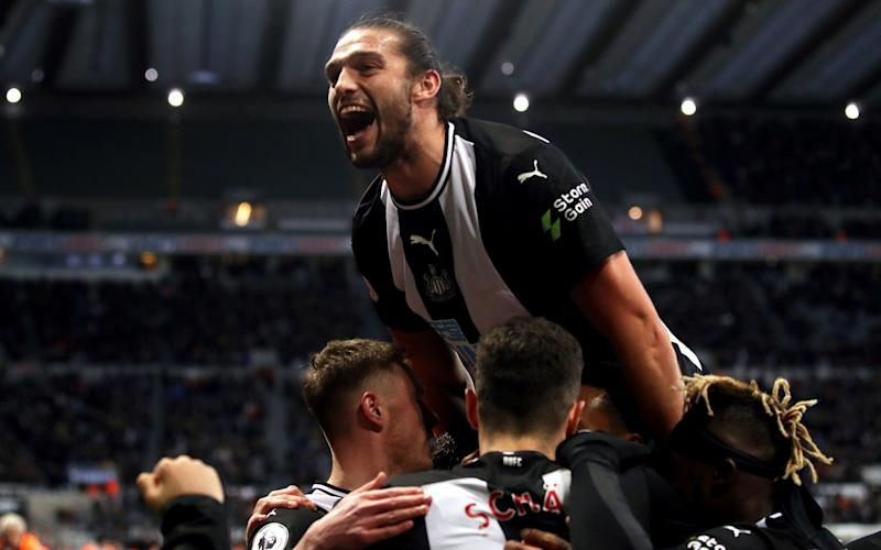 Andy Carroll changed the game for Newcastle when he was introduced against Southampton - PA