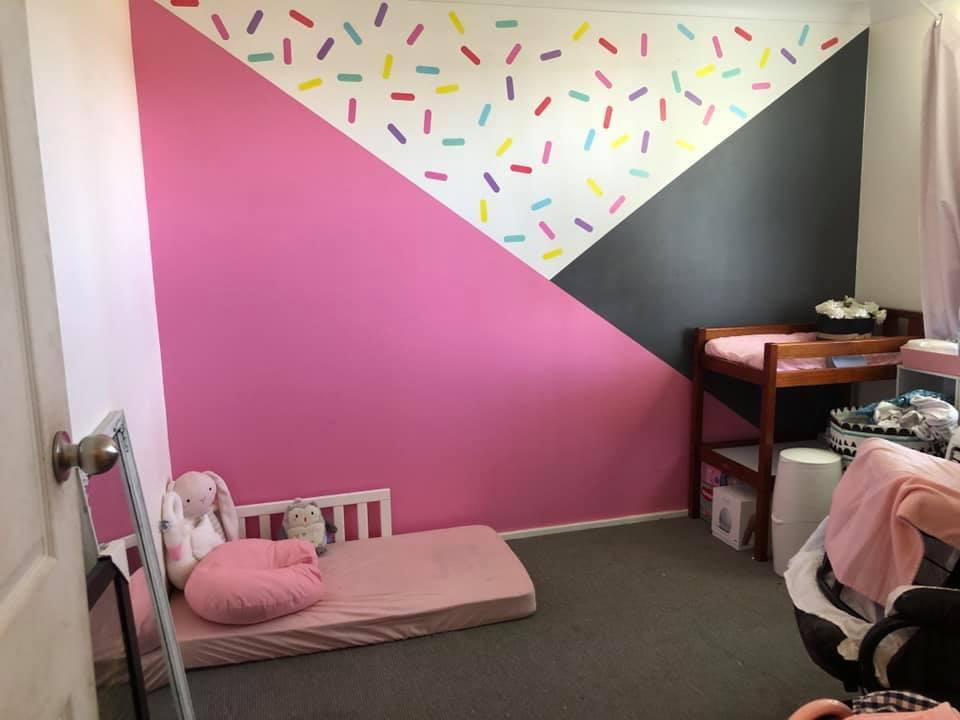 The floor bed April Campbell picked for her one-year-old daughter suits her sustainable lifestyle and her approach to parenting. Source: Facebook/Supplied
