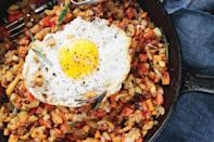 "Got a stray beet in your crisper? Throw it in this hash along with diced carrots, turnips, rutabagas, and/or parsnips. Throw an egg on it if you like. <a href=""https://www.epicurious.com/recipes/food/views/root-vegetable-hash?mbid=synd_yahoo_rss"" rel=""nofollow noopener"" target=""_blank"" data-ylk=""slk:See recipe."" class=""link rapid-noclick-resp"">See recipe.</a>"