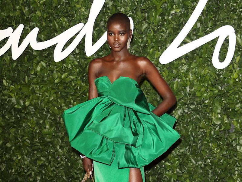 Adut Akech uses five different foundations to achieve perfect coverage