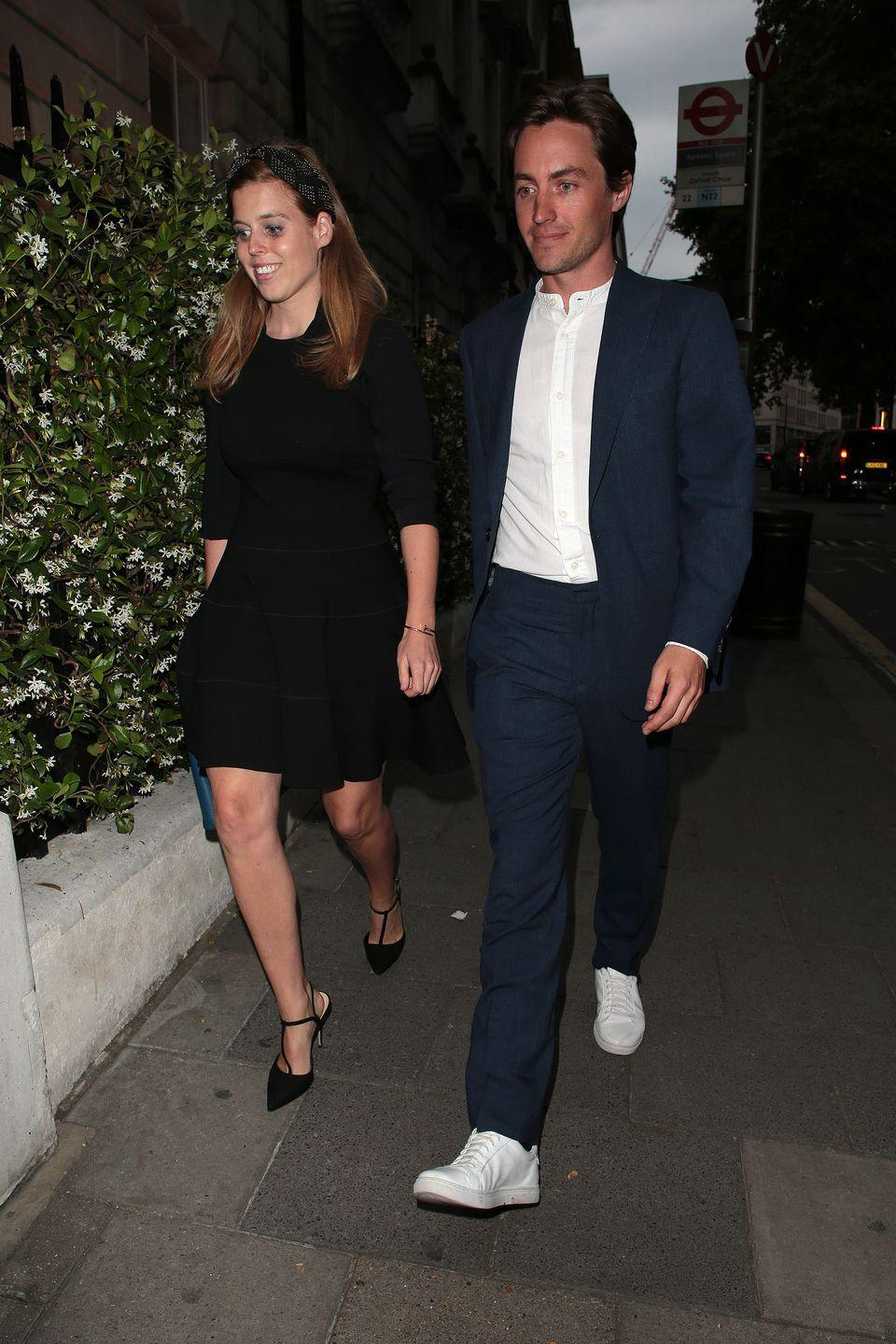 <p>By the summer, things seemed to be getting series. Here, Beatrice and Edo were spotted on a night out at Annabel's in London.</p>
