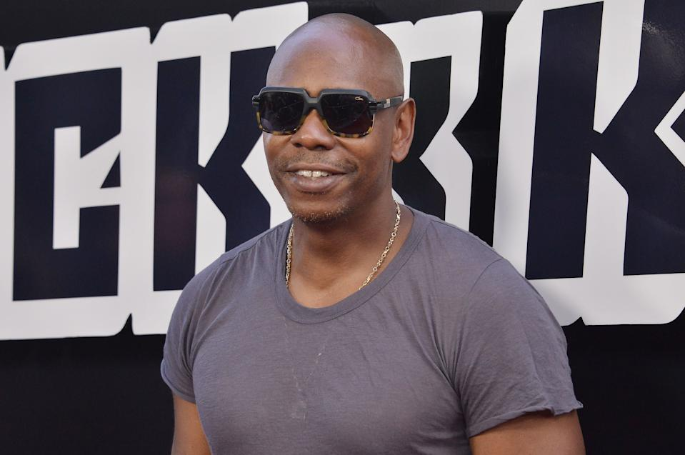 Dave Chappelle arrives at the �BlacKkKlansman� Los Angeles Premiere held at the Samuel Goldwyn Theater in Beverly Hills, CA on Wednesday, August 8, 2018. (Photo By Sthanlee B. Mirador/Sipa USA)