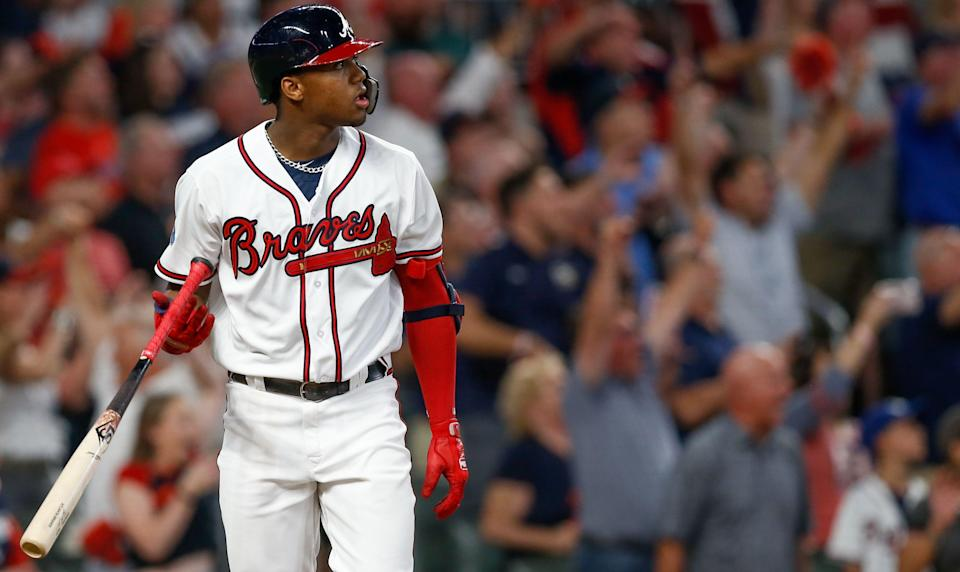 Braves star Ronald Acuna Jr reflects on his Rookie of the Year season like he reflects on his dingers. (AP)