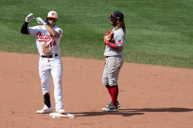 Ruiz has 4 RBIs to carry Orioles past last-place Red Sox 5-4