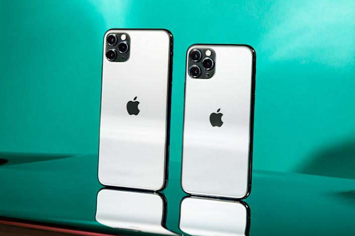 The iPhone 11 Pro and iPhone 11 Pro Max <p class='copyright'>Hollis Johnson/Business Insider</p>