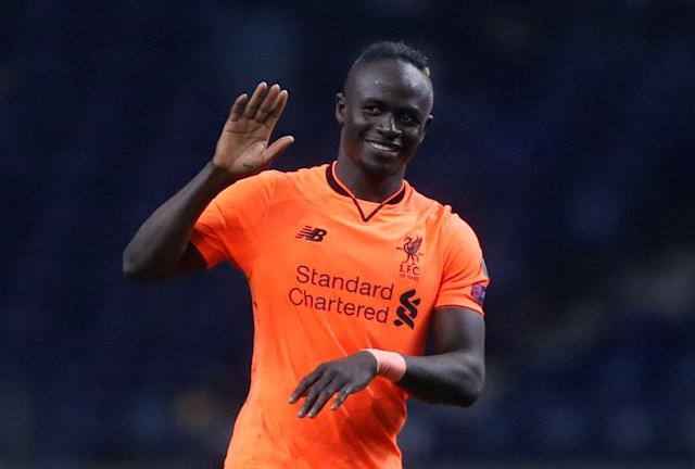 Soccer Football - Champions League Round of 16 First Leg - FC Porto vs Liverpool - Estadio do Dragao, Porto, Portugal - February 14, 2018 Liverpool's Sadio Mane celebrates at the end of the match Action Images via Reuters/Matthew Childs