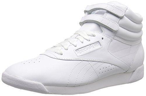 """<p><strong>Reebok</strong></p><p>amazon.com</p><p><a href=""""https://www.amazon.com/dp/B000B3DHFQ?tag=syn-yahoo-20&ascsubtag=%5Bartid%7C2140.g.22096300%5Bsrc%7Cyahoo-us"""" rel=""""nofollow noopener"""" target=""""_blank"""" data-ylk=""""slk:Shop Now"""" class=""""link rapid-noclick-resp"""">Shop Now</a></p><p>If there was an official sneaker of '80s aerobics instructors (or, ya know, people who want to dress like one), it'd have to be the Freestyle Hi, which Reebok launched in 1982. </p>"""