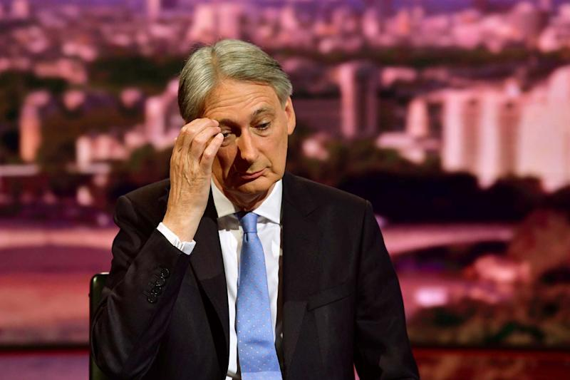 Philip Hammond said he will resign as Chancellor if Boris Johnson becomes Prime Minister (REUTERS)