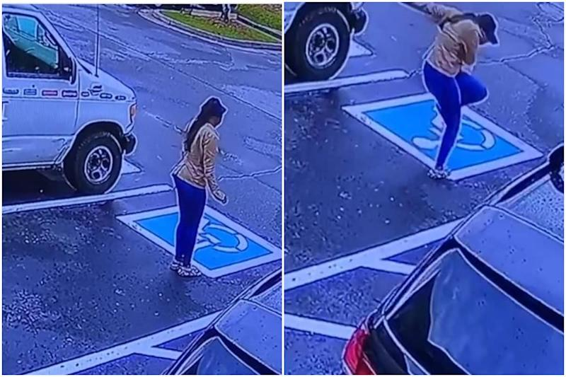 Woman Dances in Empty Parking Lot after Getting a Job as Employer Watches through Security Camera