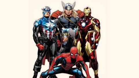The heroes of Marvel: Captain America, Thor, Iron Man and Spider-Man. Photo: Marvel Entertainment