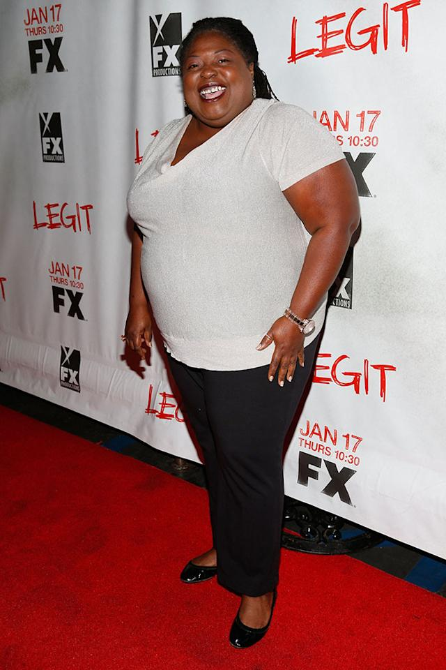 "Sonya Eddy attends the screening of FX's new comedy series ""Legit"" on January 14, 2013 in Los Angeles, California."