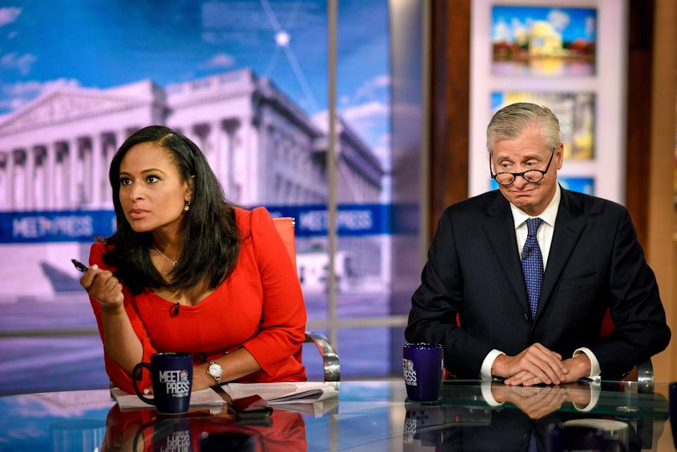 "Kristen Welker, NBC News White House Correspondent, and Jon Meacham, Presidential Biographer, appear on ""Meet the Press"" in Washington, D.C., Sunday, June 2, 2019.  (Photo: NBC NewsWire via Getty Images)"