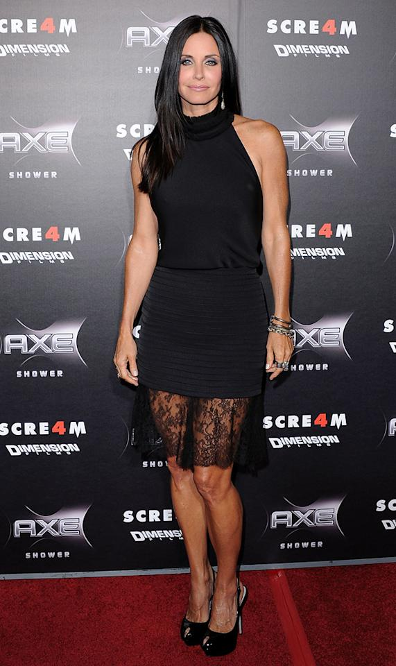 "Do you love or hate the lace hem on <a href=""http://movies.yahoo.com/movie/contributor/1800024387"">Courteney Cox</a>'s dress? We're not feeling it."