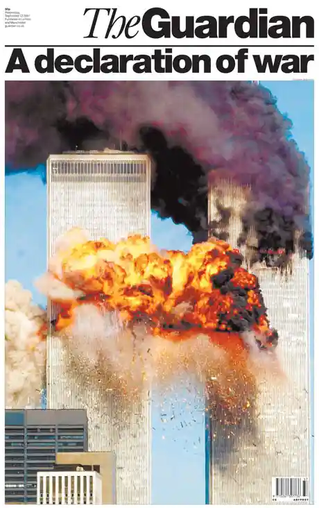 The Guardian's front page on 12 September, 2001 (The Guardian)